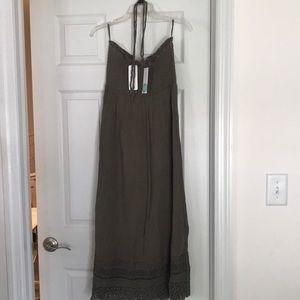 Dark green halter top dress